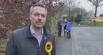 Andrew Simpson out canvassing